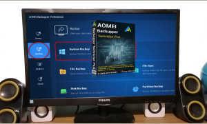 Как восстановить резервную копию Windows в другое место на компьютере с помощью программы AOMEI Backupper