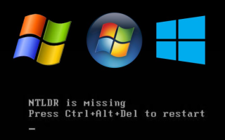 NTLDR is missing в Windows 7