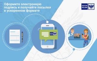 Почта России: электронная подпись для физических лиц