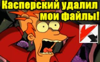 Антивирус Касперского удалил мои файлы… Что делать?