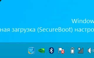 Безопасная загрузка secure boot настроена неправильно Windows 8.1