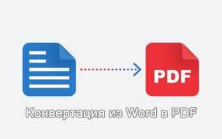Как конвертировать WORD в PDF